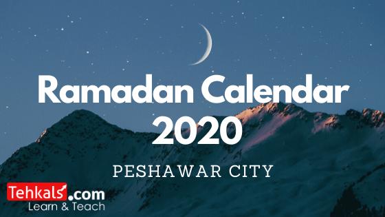 peshawar ramadan calendar